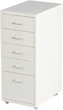 Livebest 5 Drawer Cabinet Chest Storage File Wheels Home Off
