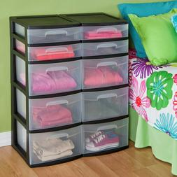 5 drawer tower plastic home