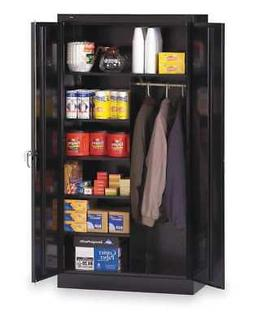 TENNSCO 7214BK Combo Storage Cabinet,Assembled,Black