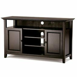 Simpli Home INT-AXCAMH-TV-DAB Amherst Solid Wood Tall TV Med