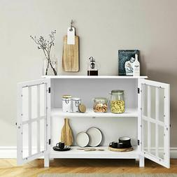 FCH Storage Sideboard Buffet Wooden Cabinet Console Table Se