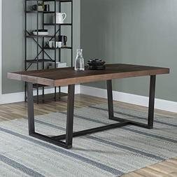 """WE Furniture AZW72DSWMA Dining Table, 72"""", Mahogany"""