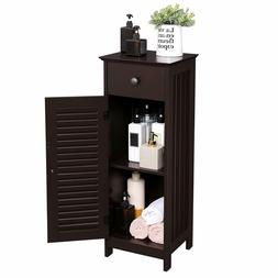 Cabinet storage organizer set with drawer and door for toile
