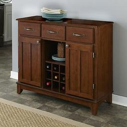 Cherry Wood Top Buffet Sideboard Storage Cabinet Home Dining