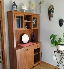 China Cabinet For Kitchen Dining Room Small Area Spaces Stor