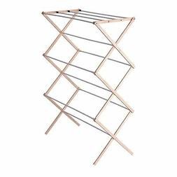 Household Essentials Collapsible Folding Wooden Clothes Dryi