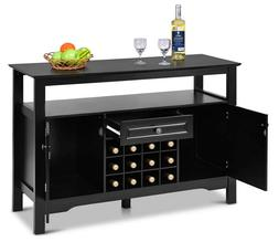 Dining Buffet Cabinet Kitchen Server Wine Rack Sideboard Sto