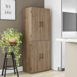 KITCHEN CABINET Cupboard Pantry Storage Organizer Wood Tall