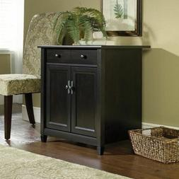 Kitchen Dining Room Food Pantry Black Wood Hutch Cabinet She