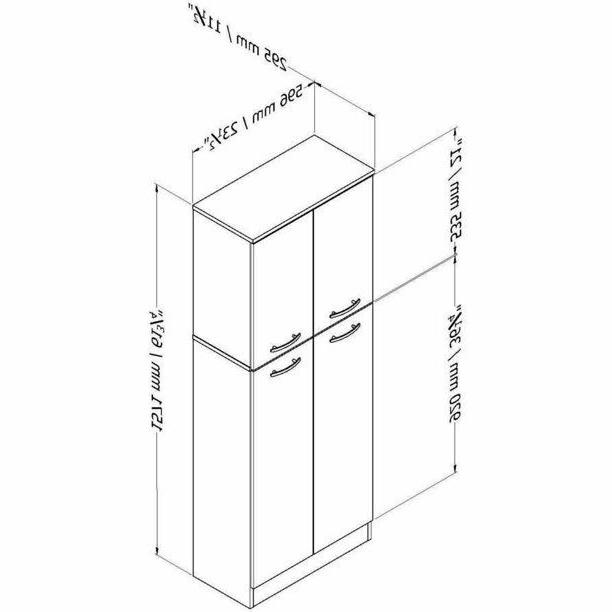 4-Door Pantry Cabinet Food Kitchen 5 Shelves Large Tall