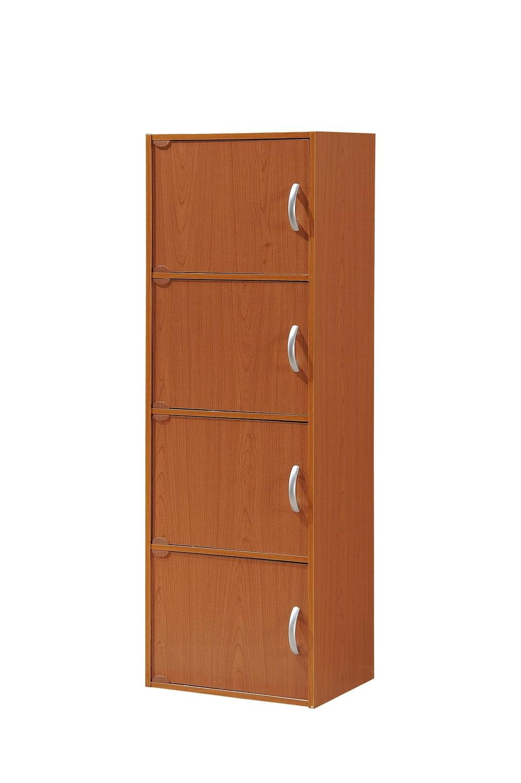 4-Door Tall Home Office Storage Clothes Garment