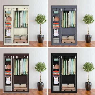 """67"""" Clothes Wardrobe Quick and Easy to Assemble Black"""