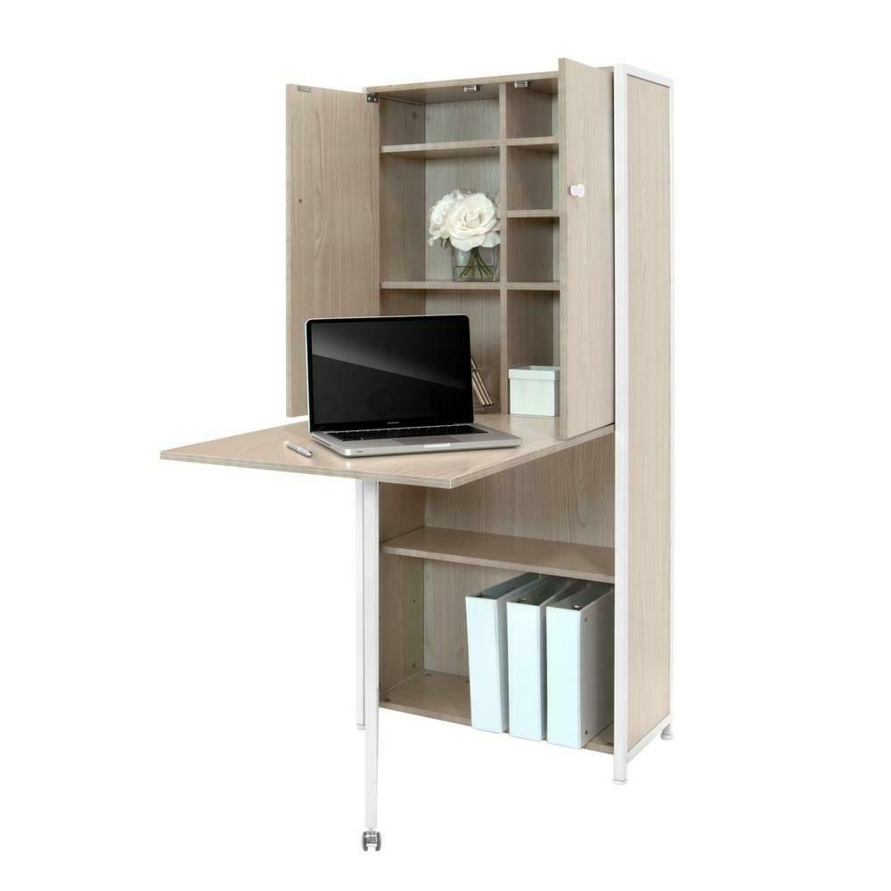 Sew Craft Storage Cabinet with Fold-Out Table