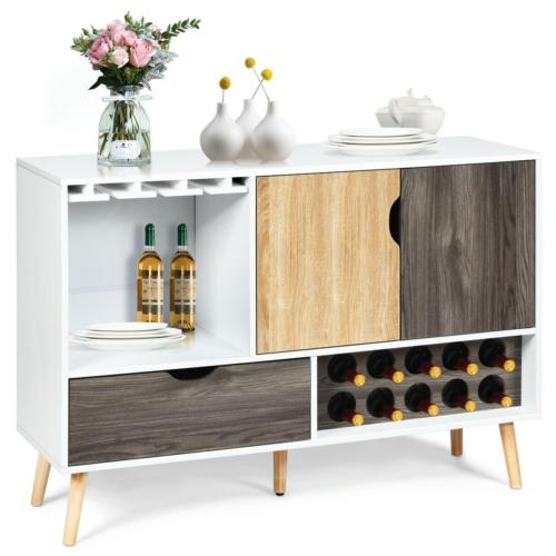 Buffet Sideboard Style Wooden Storage Cabinet Dining