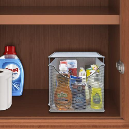 Cabinet Organizer w Cover Storage Out Kitchen Countertop