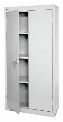 "Sandusky Commercial Storage Cabinet, Dove Gray, 72"" H X 30"""