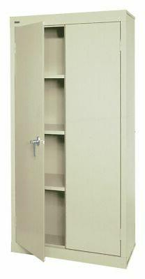 "Sandusky Commercial Storage Cabinet, Putty, 72"" H X 30"" W X"