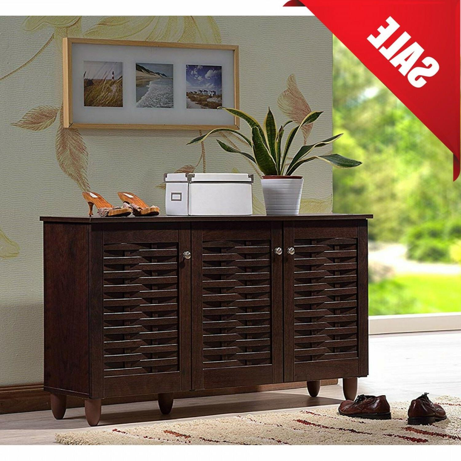 Entryway Cabinet Shoe Storage Living Room Stand