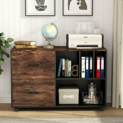 home office mobile lateral file cabinet