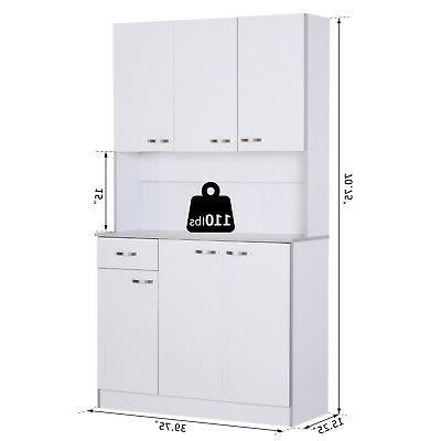 Kitchen Storage Cabinet Pantry Organizer