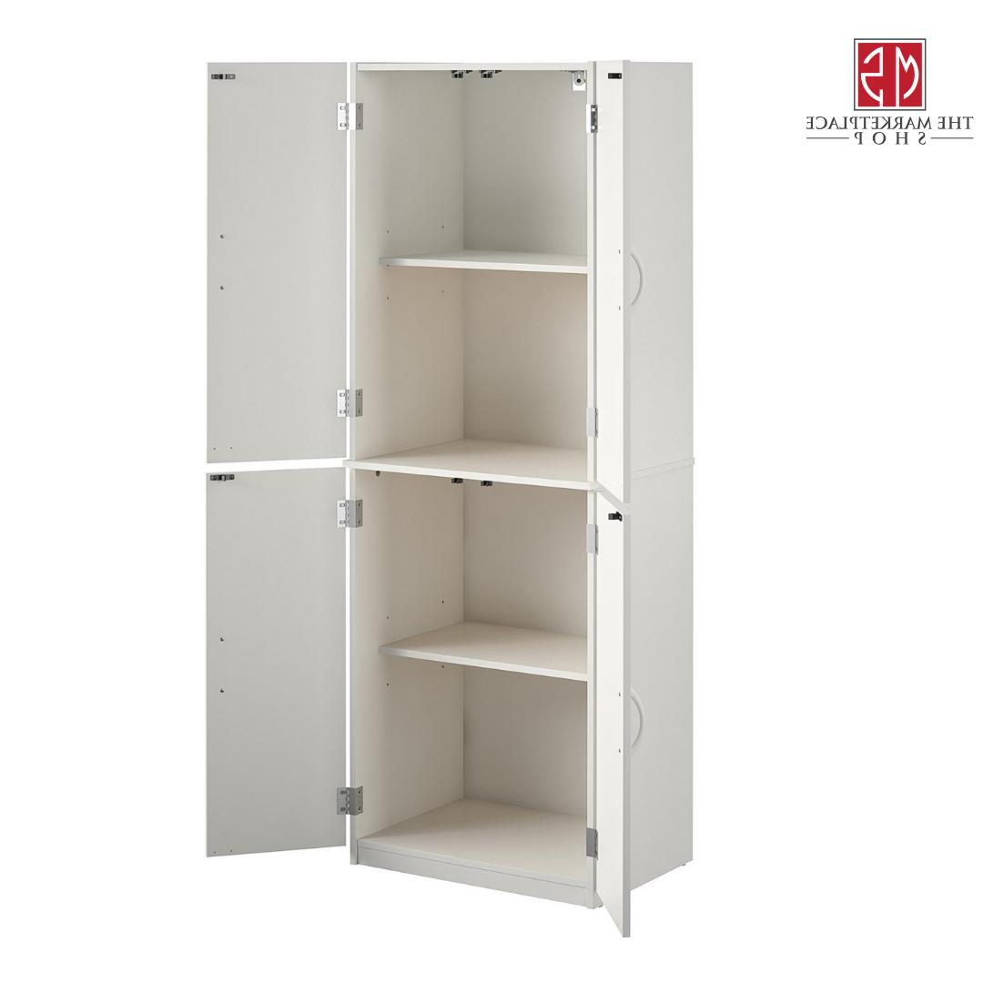 Kitchen Storage Cabinet Tall Wood Organizer White