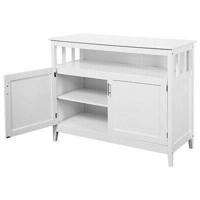 Modern Kitchen Storage Cabinet Buffet Server Table Dining Wood