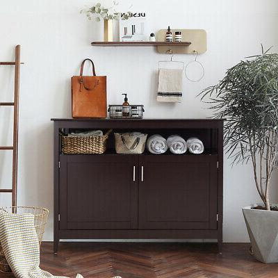 Modern Buffet Table Dining Wood Brown