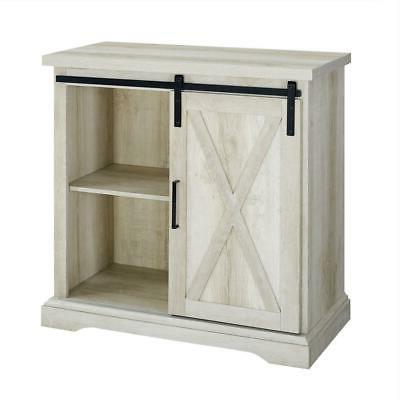 Rustic Cabinet Door Console Farmhouse Finish Accent Chest Storage