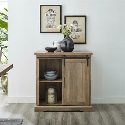 Rustic Cabinet Barn Console Finish Accent Chest
