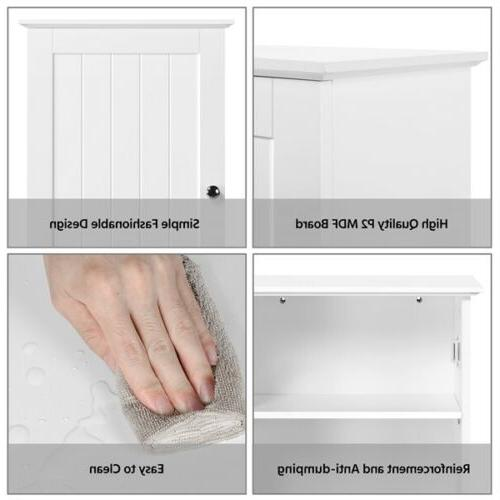Single Door 3 Shelf Bathroom Cabinet Mounted Storage