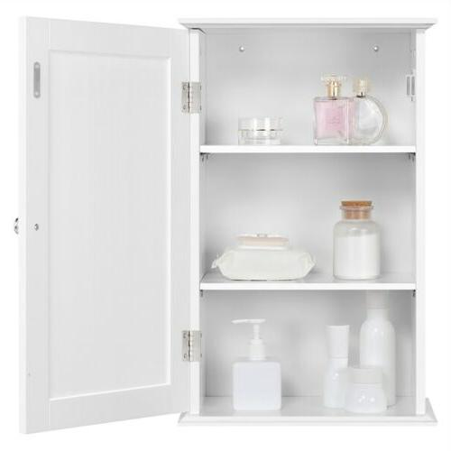 Single Bathroom Cabinet Indoor Mounted Wooden