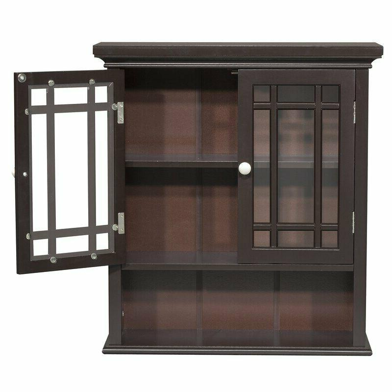 Bathroom Cabinet Wall Mounted Cupboard Wooden Kitchen Pantry