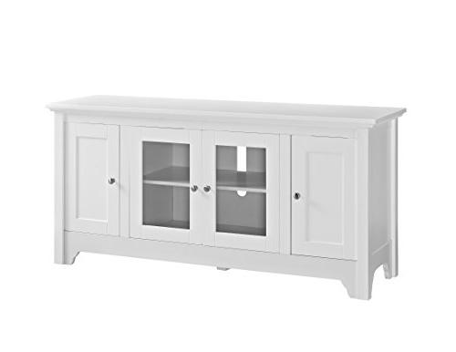 """WE 52"""" Wood Console - White"""