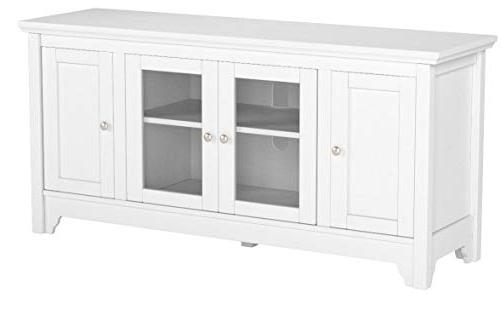 """WE 52"""" Wood TV Console - White"""
