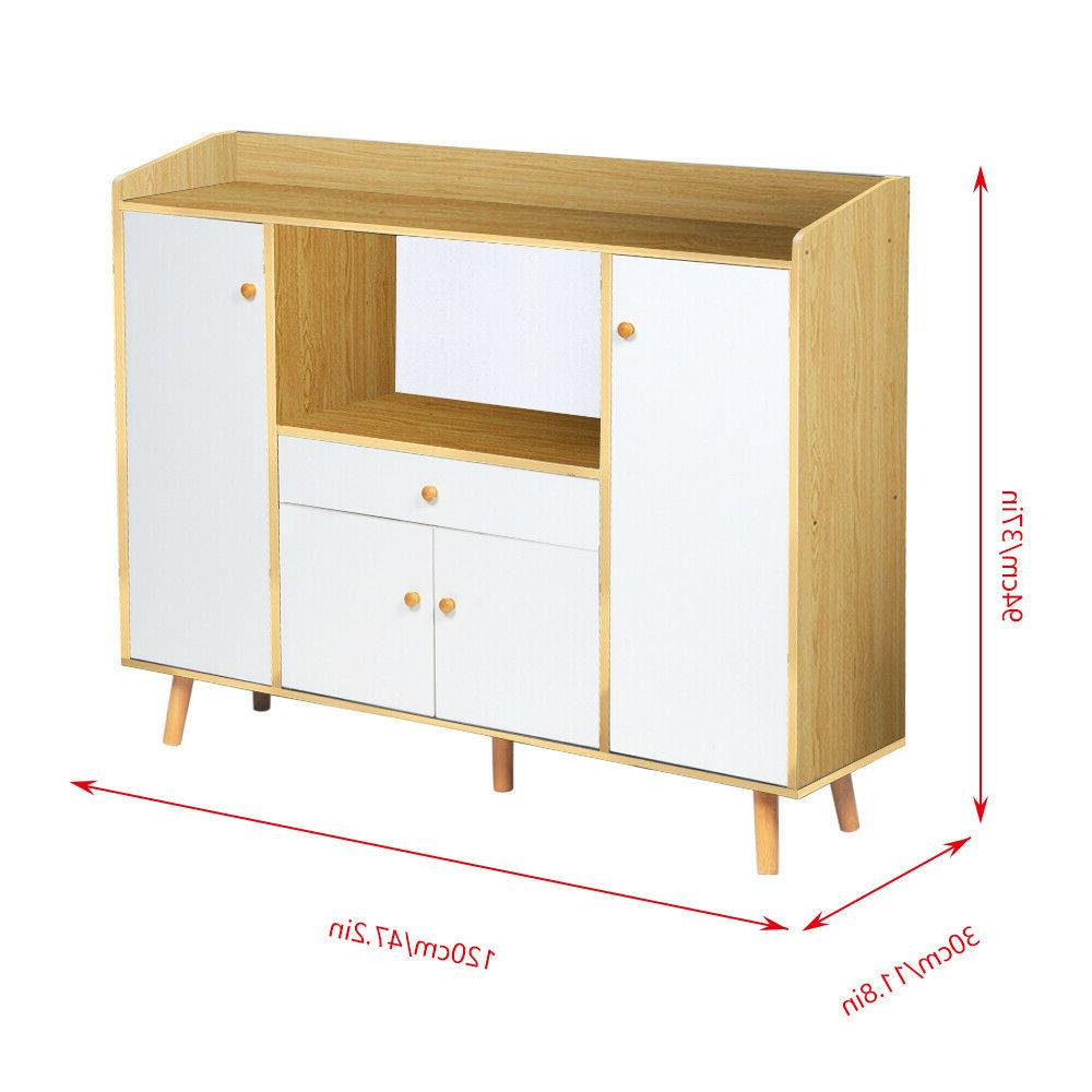 Wooden Storage Cupboards Shelf Multi-Function Home New