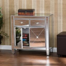 Mirrored Dresser Cabinet Bedroom Drawers Nightstand Console