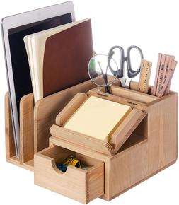 Liry Products Natural Wood Desk Organizer Storage Cabinet Ma