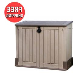 Outdoor Storage Shed Plastic Garden Cabinet All Weather Pool