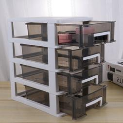 Plastic Wide Tower Cabinet Drawer Heavy Duty Clear Home Offi