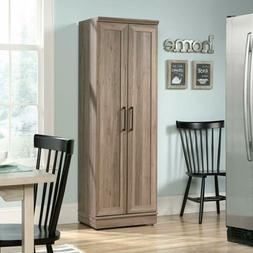 Rustic Oak Wooden Pantry Storage Cabinet Laundry Home Office