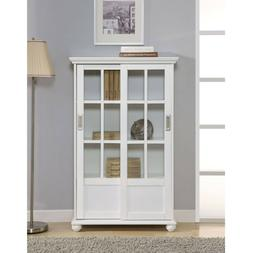 Sliding Glass Door Cabinet Bookcase Book Dispaly Kitchen Pan