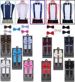 SUSPENDERS and BOW TIE COMBO SET-Tuxedo Classic Wedding Cost
