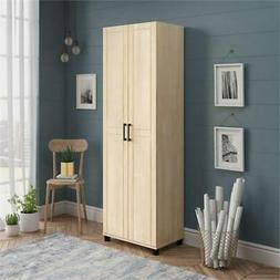 """SystemBuild Callahan 24"""" Utility Storage Cabinet in Natural"""