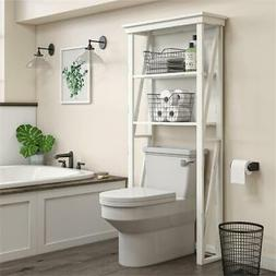 SystemBuild Crestwood Over the Toilet Storage Cabinet in Whi