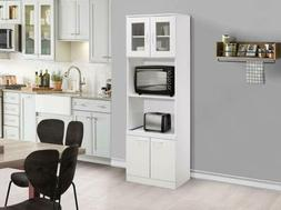 Kings Brand Furniture - Tall Kitchen Pantry, Microwave Stora