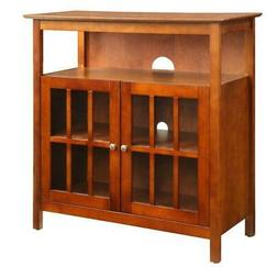 TV Stand 100 lb. Weight Capacity Storage Cabinet Cherry Brow