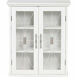 Glass Front Wall Cabinet White Bathroom Shelves Dining Room